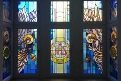 20.04.2018 - Witraż w kaplicy klasztornej (montaż)